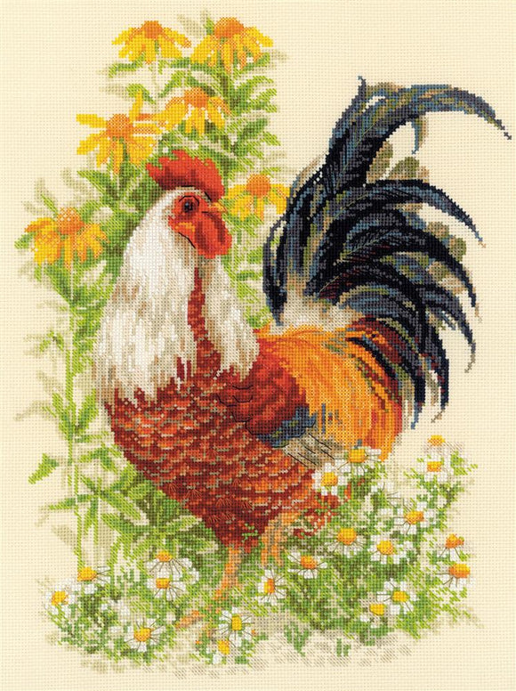 Cross Stitch Kit Rooster Counted Cross Stitch Kit Riolis R1479