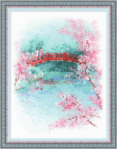 Sakura Bridge, Riolis Oriental Counted Cross Stitch Kit R1745