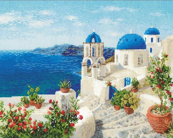 Cross Stitch Kit Santorini, Counted Cross Stitch Kit Riolis R1644