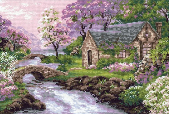 Cross Stitch Kit Spring View, Counted Cross Stitch Kit R1098