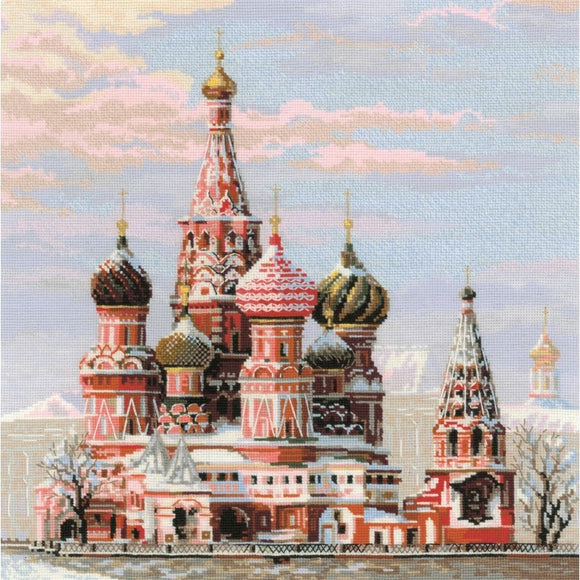 St Basil's Cathedral, Counted Cross Stitch Kit Riolis R1260