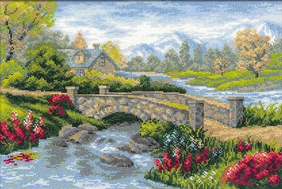 Cross Stitch Kit Summer View, Counted Cross Stitch Kit R1078