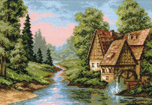 Cross Stitch Kit The Mill, Counted Cross Stitch Kit R1097