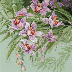 Cross Stitch Kit Tropical Orchids, Counted Cross Stitch Riolis R1401