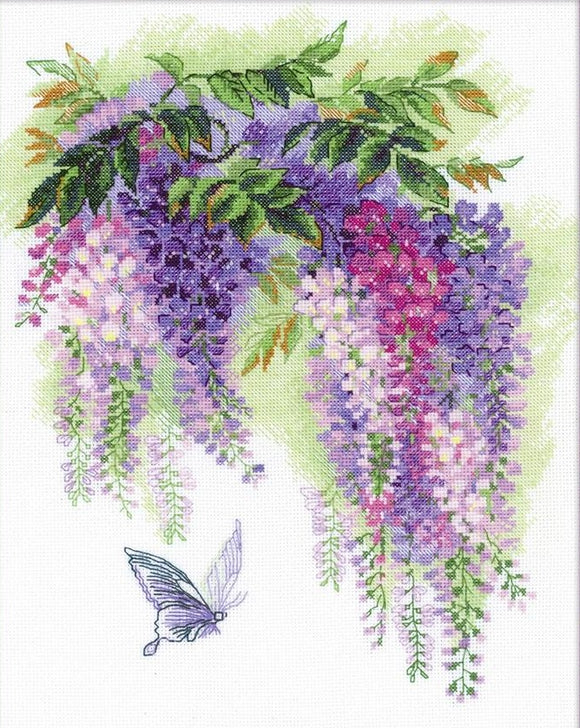 Wisteria Cross Stitch Kit, Riolis R1672