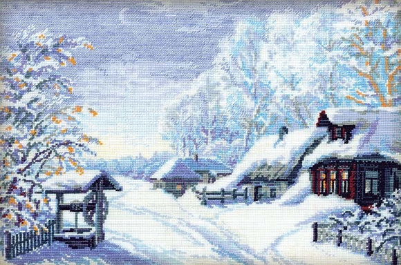 Cross Stitch Kit Mid Winter, Counted Cross Stitch Kit Riolis R989