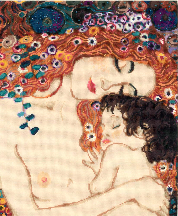 Motherly Love, Gustav Klimt Cross Stitch Kit, Riolis R916
