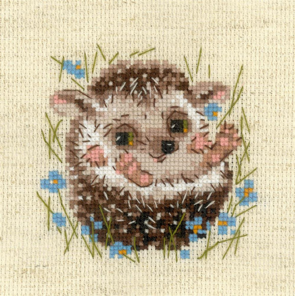 Cross Stitch Kit Hedgehog, Counted Cross Stitch Riolis R1753