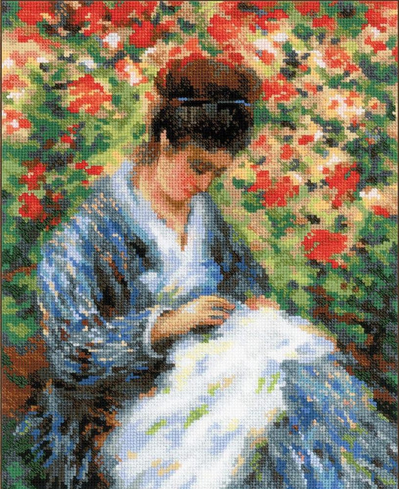 Monet Camille Cross Stitch Kit, Riolis R100/051