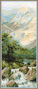 Mountain Stream Landscape, Counted Cross Stitch Kit R1543