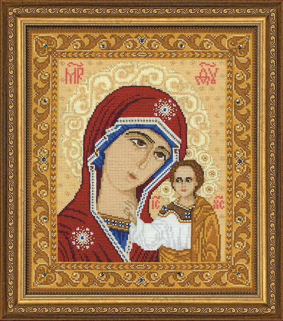Cross Stitch Kit Our Lady of Kazan, Counted Cross Stitch Riolis R1038