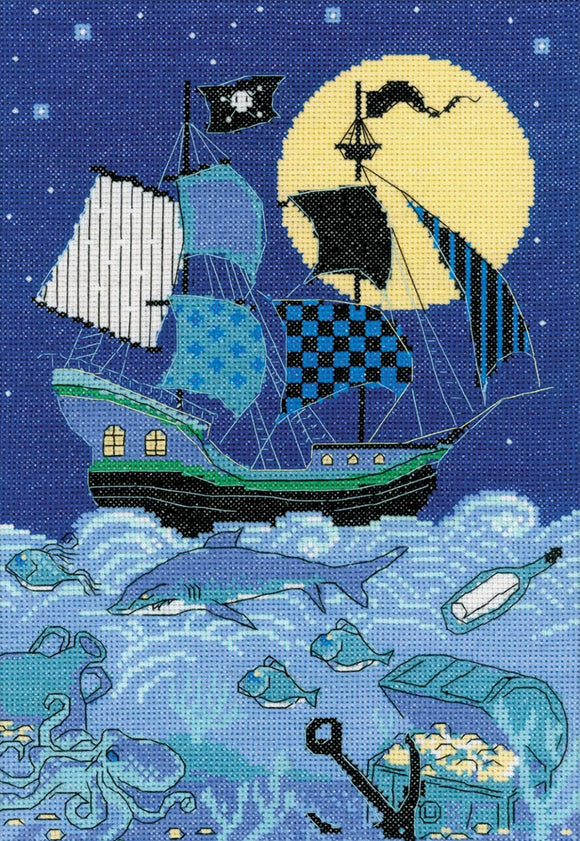Cross Stitch Kit Pirate Ship Counted Cross Stitch Kit R1511