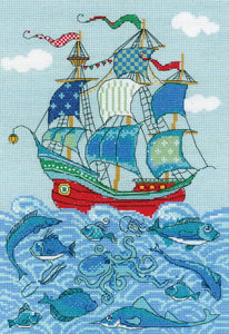 Cross Stitch Kit Galleon Ship Counted Cross Stitch Kit R1465
