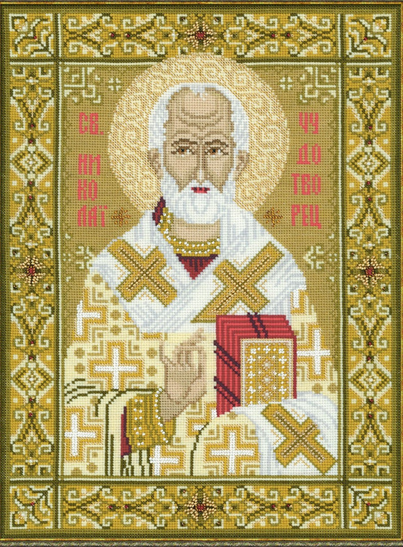 Cross Stitch Kit Saint Nicholas, Counted Cross Stitch Riolis R1034