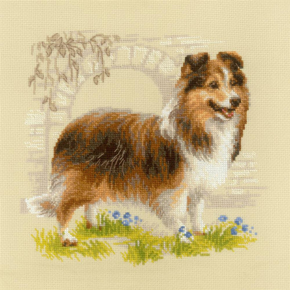 Cross Stitch Kit Sheltie, Counted Cross Stitch Kit Riolis R1710