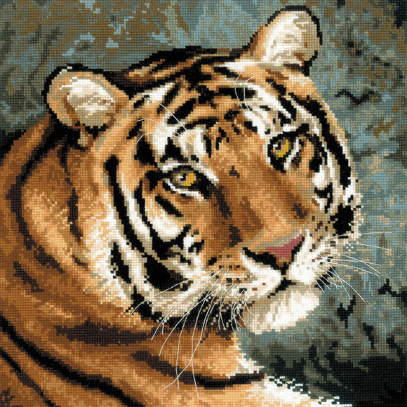 Cross Stitch Kit Siberian Tiger, Counted Cross Stitch Kit Riolis R1282