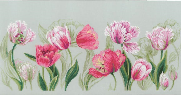 Spring Tulips Cross Stitch Kit, Riolis R100/052