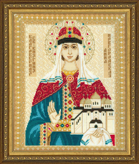 St Anna of Novgorod, Counted Cross Stitch Kit Riolis R1454