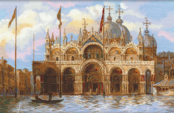 Venice, St. Marks Square, Counted Cross Stitch Kit Riolis R1127