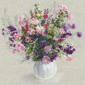 Cross Stitch Kit Summer Bouquet, Counted Cross Stitch Riolis R1010