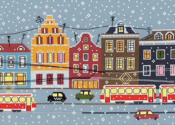 Cross Stitch Kit Tram Route, Counted Cross Stitch Kit Riolis R1489