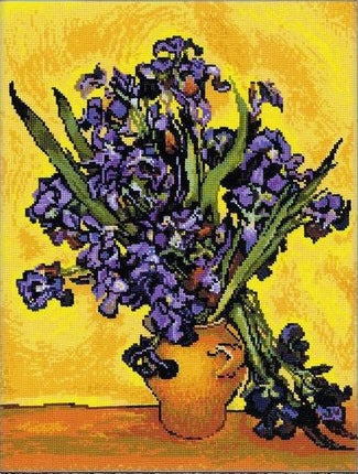 Van Gogh Irises Cross Stitch Kit, Riolis R1087