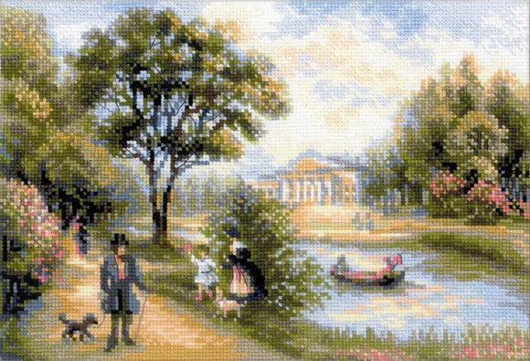 Walk in the Park Cross Stitch Kit Riolis R1527