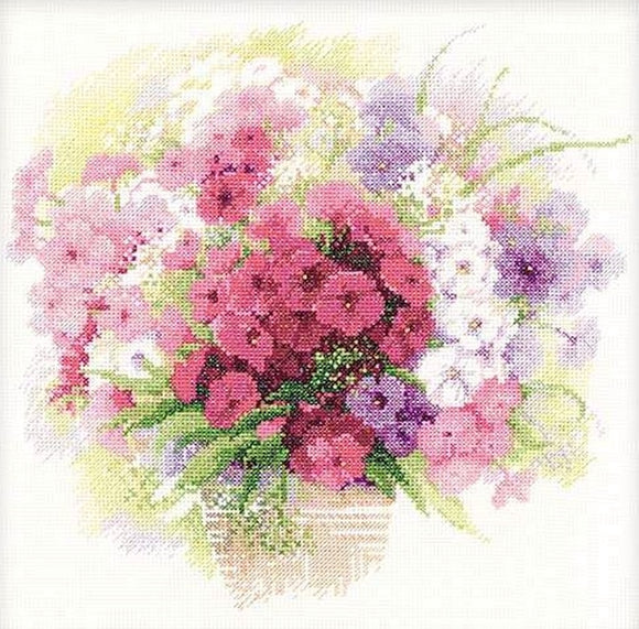 Watercolour Phlox Cross Stitch Kit, Riolis R1069