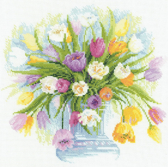 Watercolour Tulips Cross Stitch Riolis R100/008