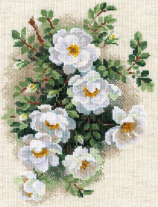 Cross Stitch Kit White Briar, Counted Cross Stitch Riolis R1351
