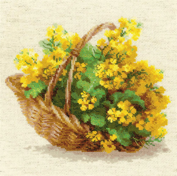 Cross Stitch Kit Yellow Rapeseed, Counted Cross Stitch Riolis R1502