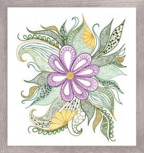 Embroidery Kit Lovely Flower Embroidery, Riolis R1588