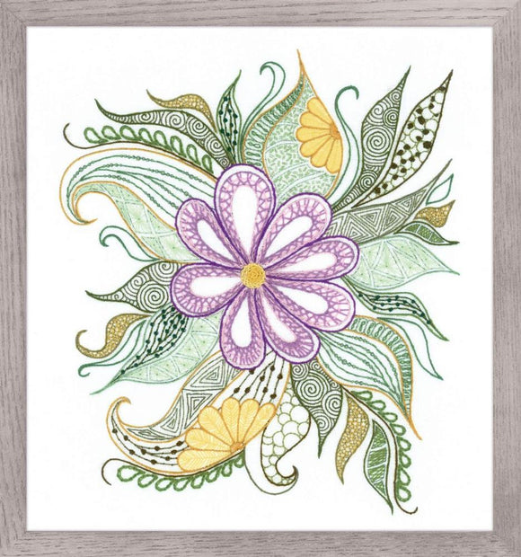 Embroidery Kit Lovely Flower Embroidery, Riolis 1588