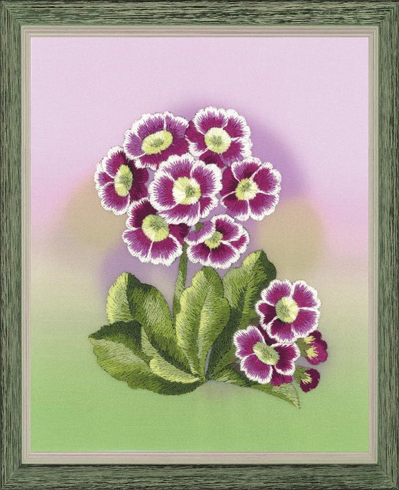 Embroidery Kit Primulas Embroidery, Riolis RPT-0066
