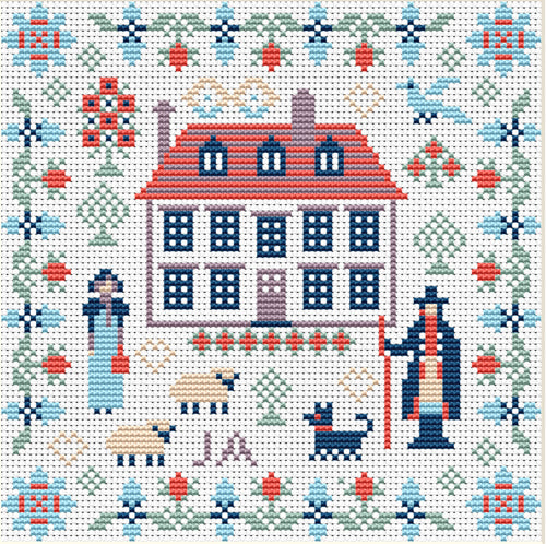 Jane Austen Mini Sampler Counted Cross Stitch Kit Riverdrift House RR421
