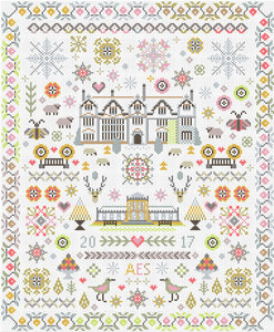 Cross Stitch Kit Paradise Found Sampler, Counted Cross Stitch RR348
