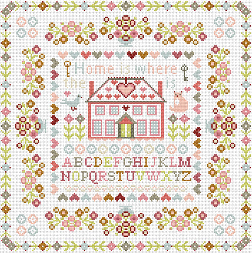 Home is Where the Heart Is Sampler, Counted Cross Stitch Kit RR383