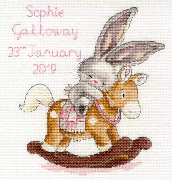 Rock-a-Bye Birth Sampler Cross Stitch Kit, Bebunni, Bothy Threads XBB13