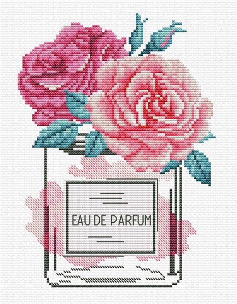 Rose Chic PRINTED Cross Stitch Kit, Needleart World N340-035