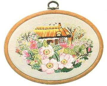 Embroidery Kit Rose Cottage, Design Perfection E181
