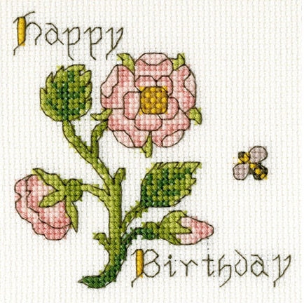 Rose Greeting Card Cross Stitch Kit, Bothy Threads XGC12