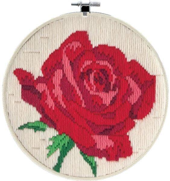 Rose Rouge Long Stitch Kit, Needleart World LST3-005