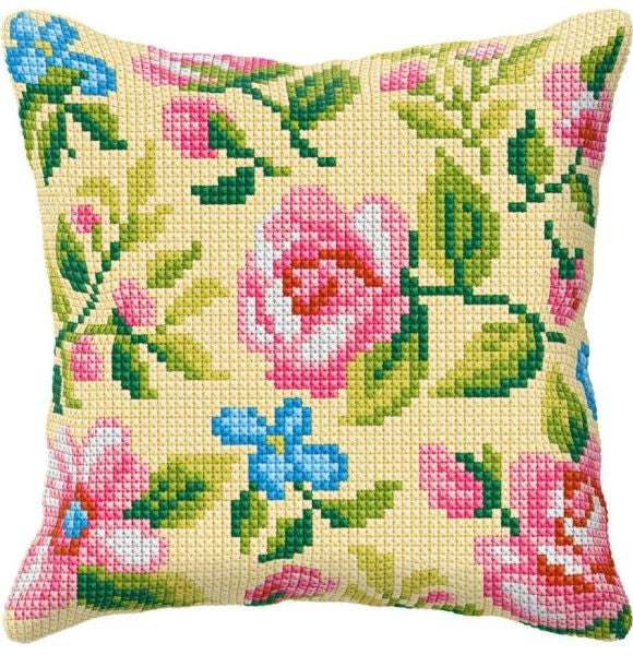 Roses on Cream CROSS Stitch Tapestry Kit, Orchidea ORC99009
