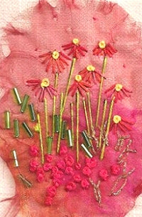 Embroidery Kit Echinacea, Rowandean Embroidery