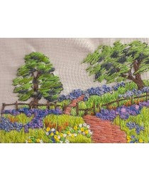 Embroidery Kit Hillside Path, Rowandean Embroidery