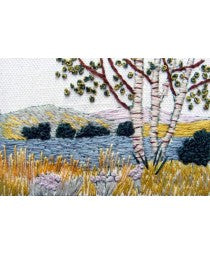 Embroidery Kit Silver Birch, Rowandean Embroidery