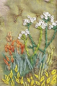 Embroidery Kit Summer Cow Parsley, Rowandean Embroidery