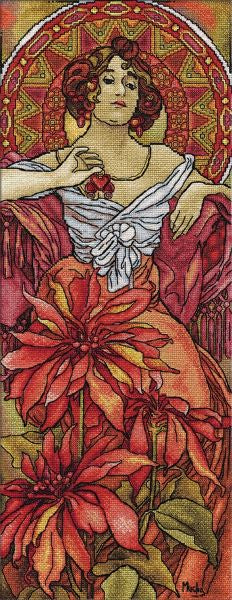 Ruby by Mucha Cross Stitch Kit, Panna VH-1170