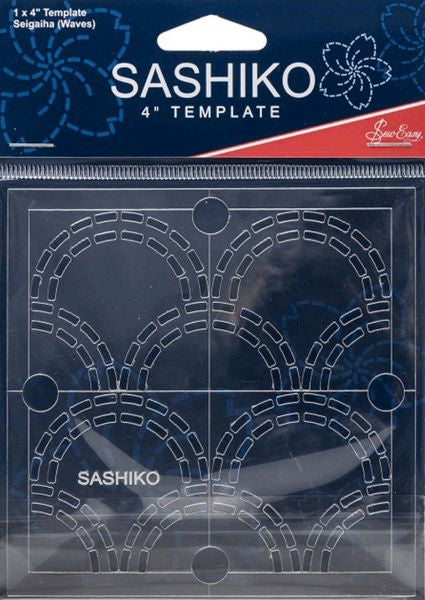 Sashiko Embroidery Template Stencil - Siegaiha/Waves ERS.003