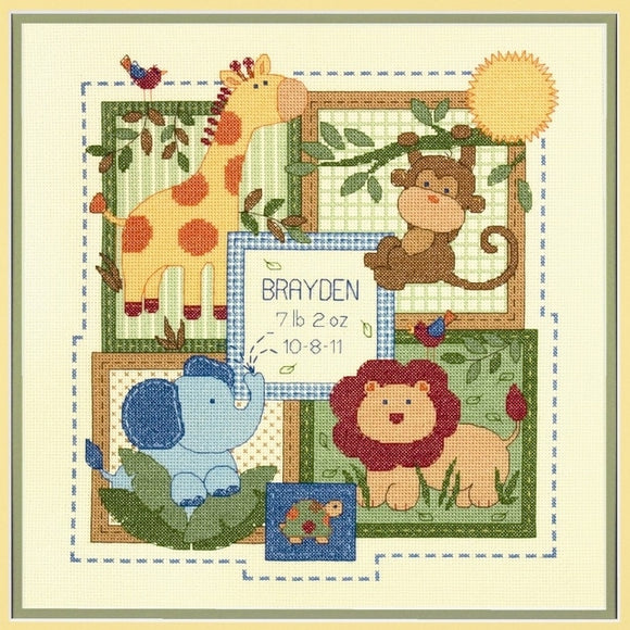 Savannah Birth Sampler Cross Stitch Kit, Dimensions D70-73543